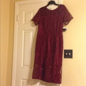 Dresses & Skirts - New Burgundy lace Mother of the Bride dress